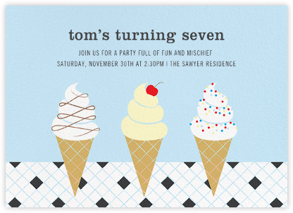 Ice Cream Parlor - Glacier - Paperless Post - Kids' birthday invitations