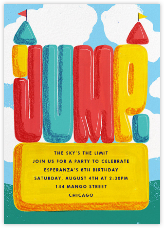 Bounce House - Paperless Post - Birthday invitations