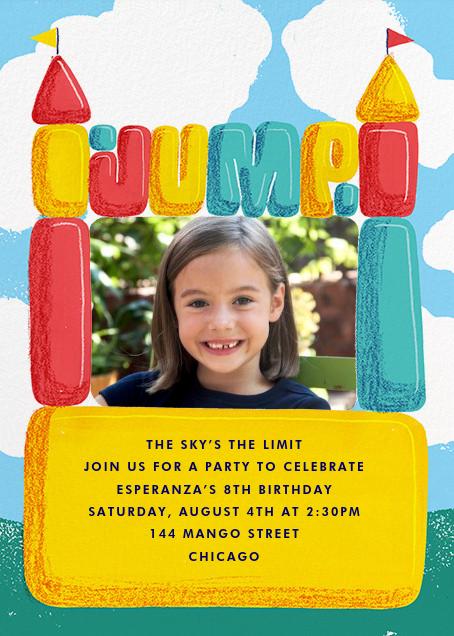 Bounce House (Photo) - Paperless Post - Kids' birthday invitations