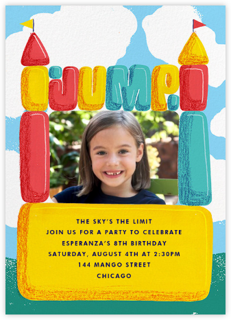 Bounce House (Photo) - Paperless Post - Online Kids' Birthday Invitations