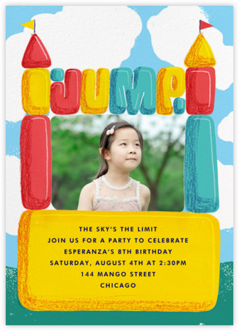 Bounce House (Photo) - Paperless Post - Birthday invitations