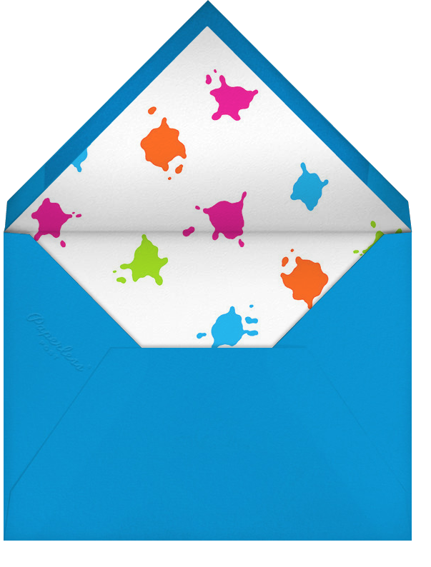 Splat Attack - Paperless Post - Kids' birthday - envelope back
