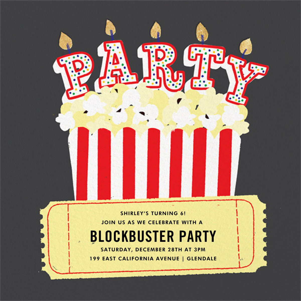 What's Poppin' - Paperless Post - Kids' birthday invitations