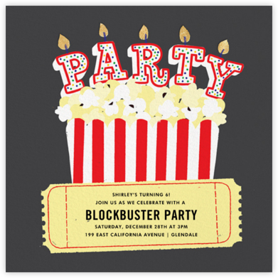 What's Poppin' - Paperless Post - Online Kids' Birthday Invitations
