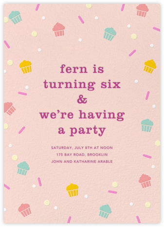 Cakefetti - Multi - Paperless Post - Online Kids' Birthday Invitations