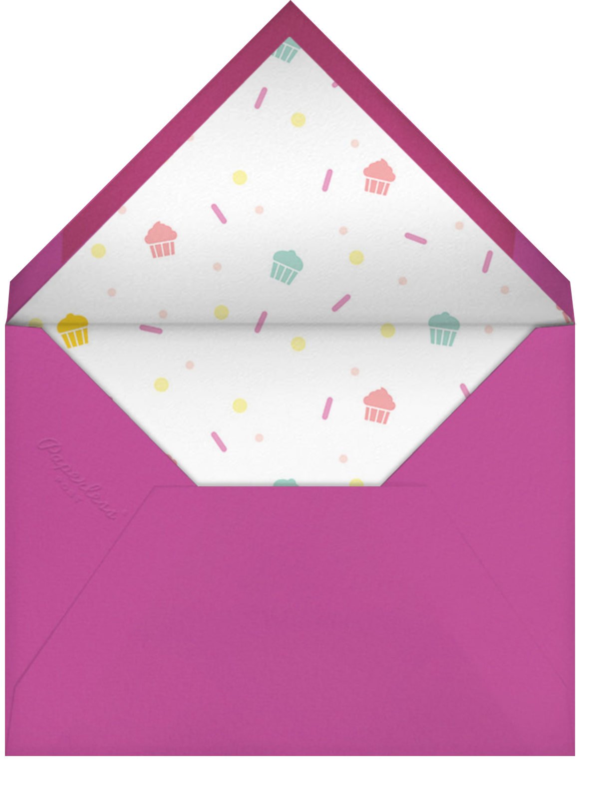 Cakefetti - Multi - Paperless Post - Kids' birthday - envelope back