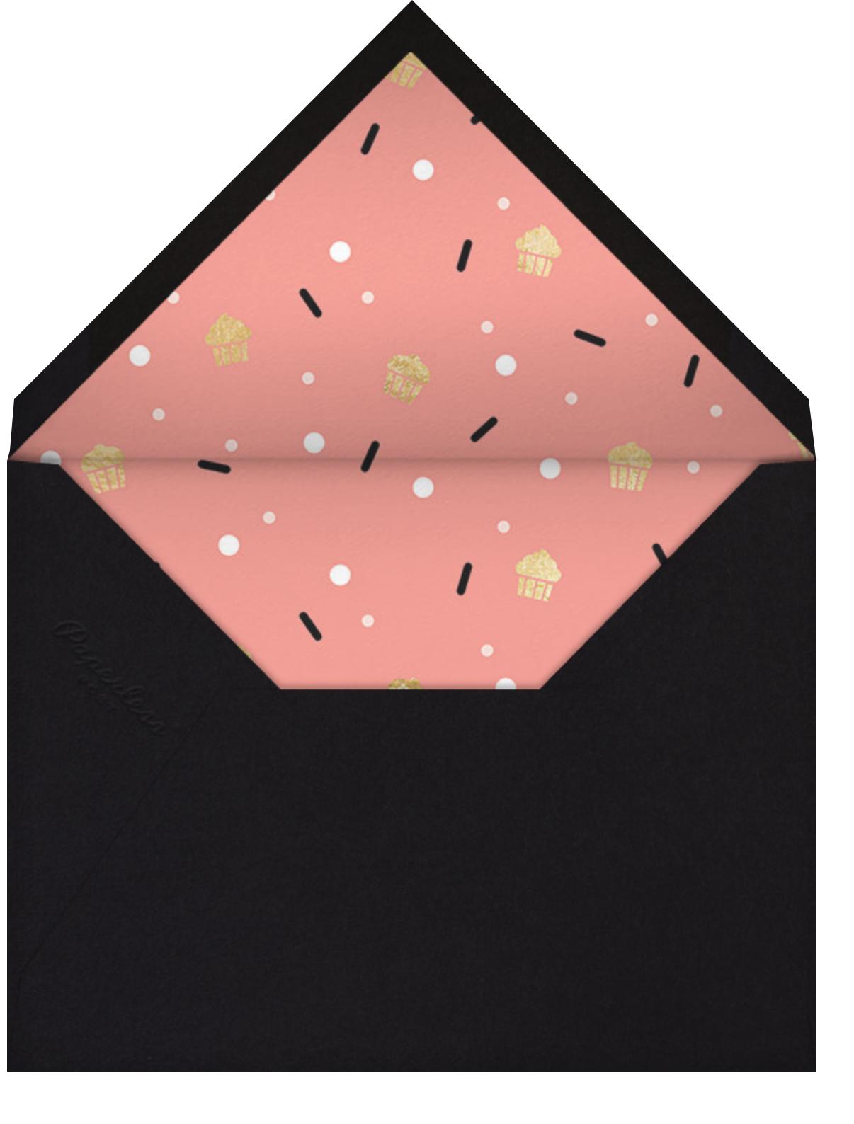 Cakefetti (Photo) - Gold - Paperless Post - Kids' birthday - envelope back