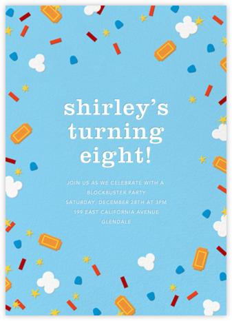 Filmfetti - Blue - Paperless Post - Online Kids' Birthday Invitations