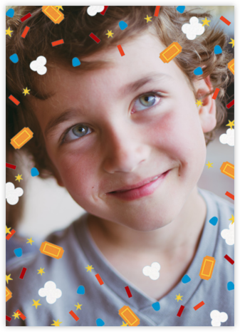 Filmfetti (Photo) - Blue - Paperless Post - Online Kids' Birthday Invitations