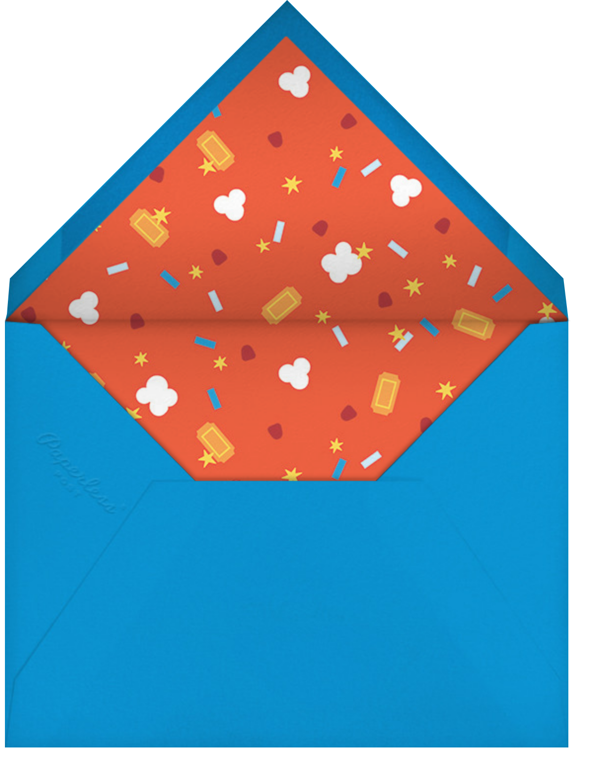 Filmfetti (Photo) - Red - Paperless Post - Envelope