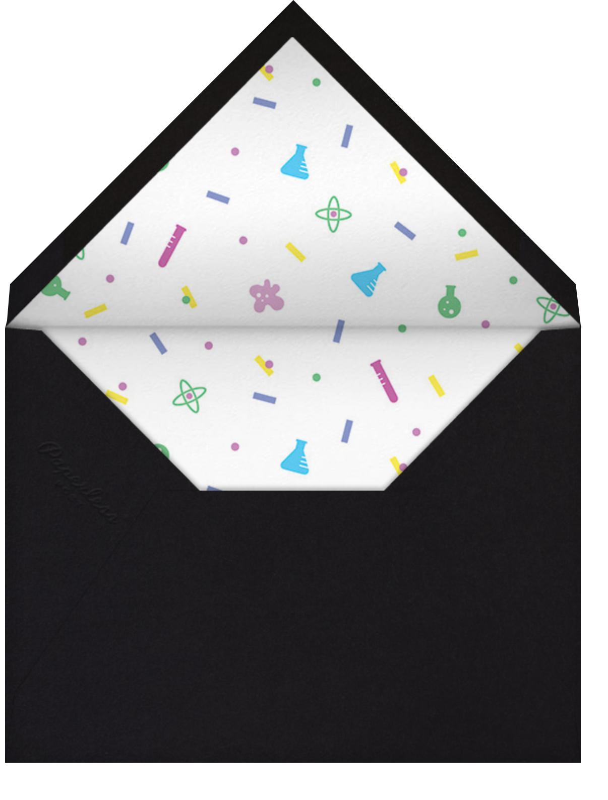 Sci-fetti - White - Paperless Post - Kids' birthday - envelope back