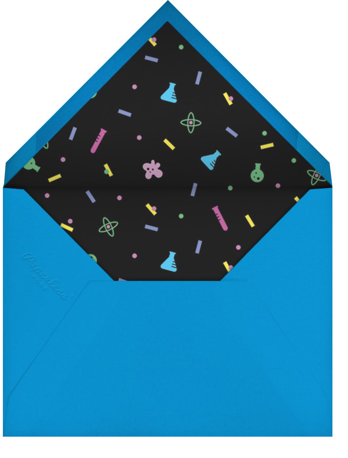 Sci-fetti (Photo) - Black - Paperless Post - Kids' birthday - envelope back