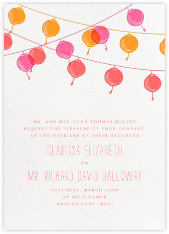 Lanterns - Sherbet - Paperless Post - Bridal shower invitations