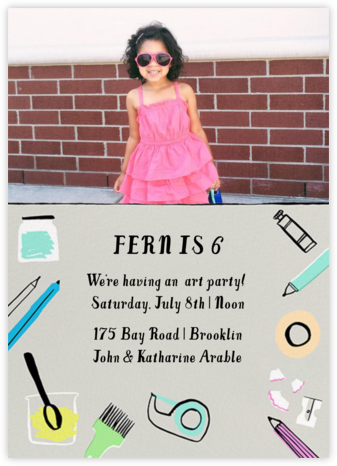 Arty Party (Photo) - Hello!Lucky - Kids' birthday invitations