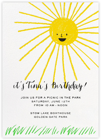 Moment in the Sun - Hello!Lucky - Birthday invitations