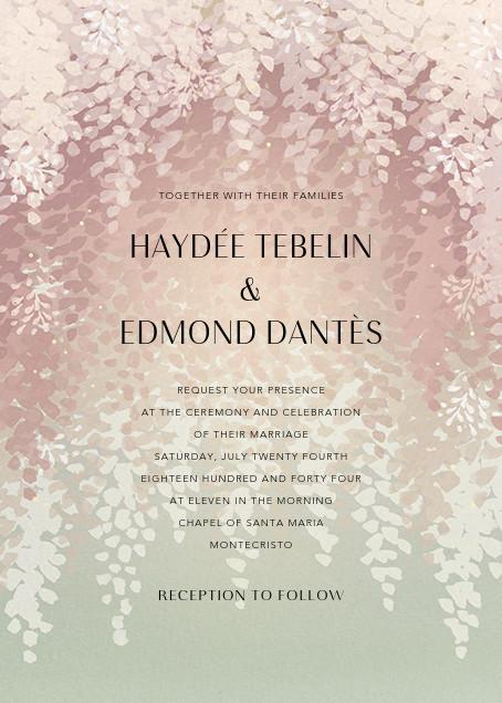 Violette (Invitation) - Dawn - Paperless Post - Wedding invitations