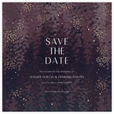 Violette (Save the Date) - Dusk - Paperless Post - Save the dates