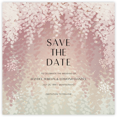 Violette (Save the Date) - Dawn - Paperless Post - Save the dates