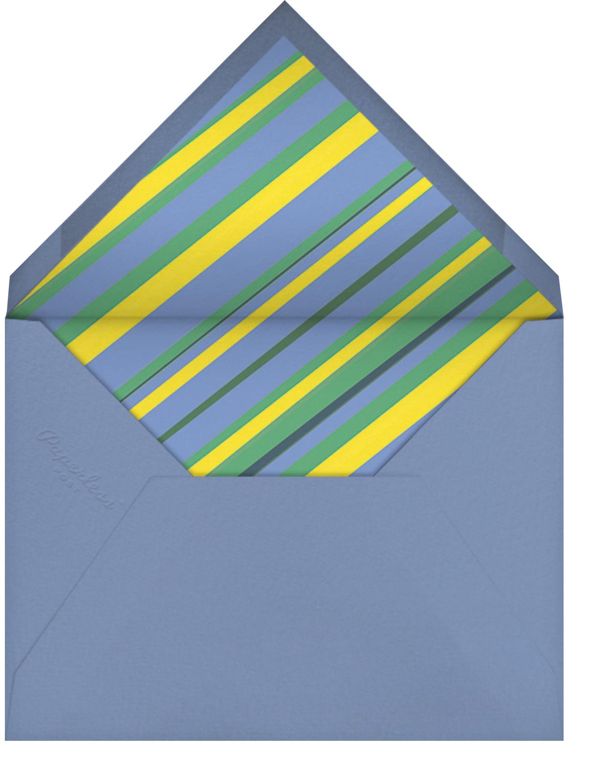 Let's Roll - Blue - Hello!Lucky - Kids' birthday - envelope back