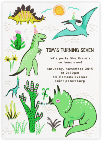 Jurassic Party - Hello!Lucky - Online Kids' Birthday Invitations
