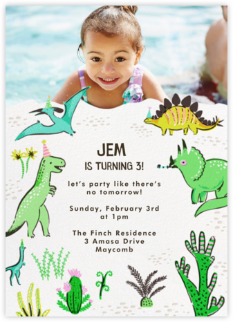 Jurassic Party (Photo) - Hello!Lucky - Online Kids' Birthday Invitations