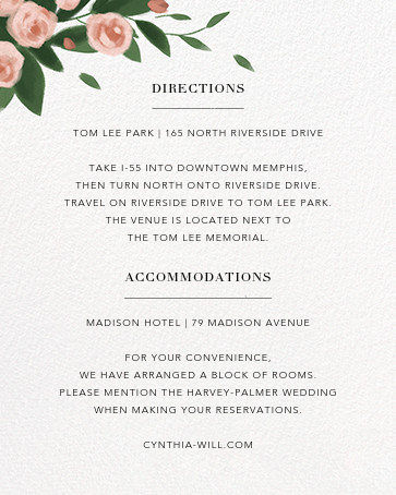 Teablossom (Invitation) - Rose Gold/Pink - Paperless Post - All - insert front