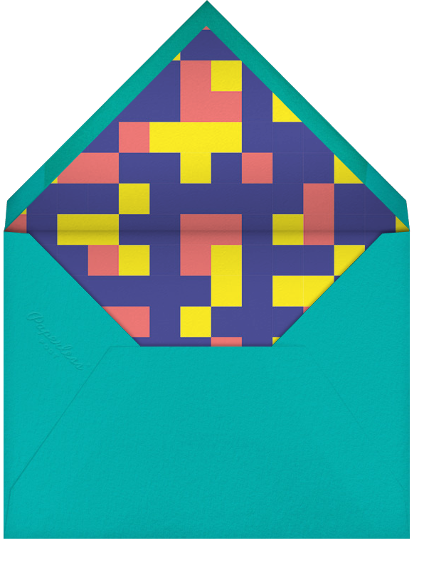 8-Bit Birthday - Paperless Post - Kids' birthday - envelope back