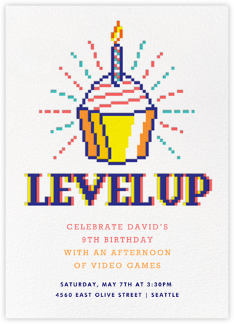 8-Bit Birthday - Paperless Post - Kids' Birthday Invitations