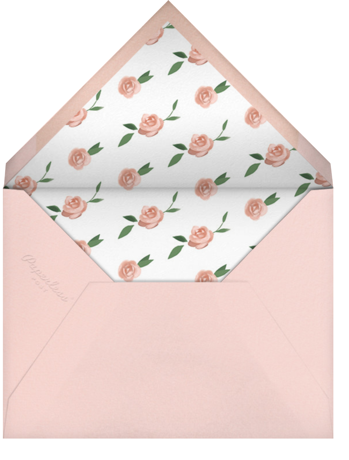 Teablossom (Photo Invitation) - Rose Gold/Pink - Paperless Post - All - envelope back
