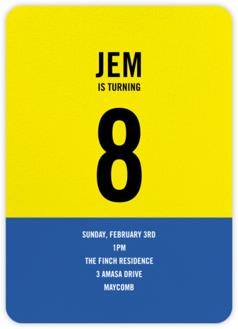 Blue and Yellow - Paperless Post - Birthday invitations