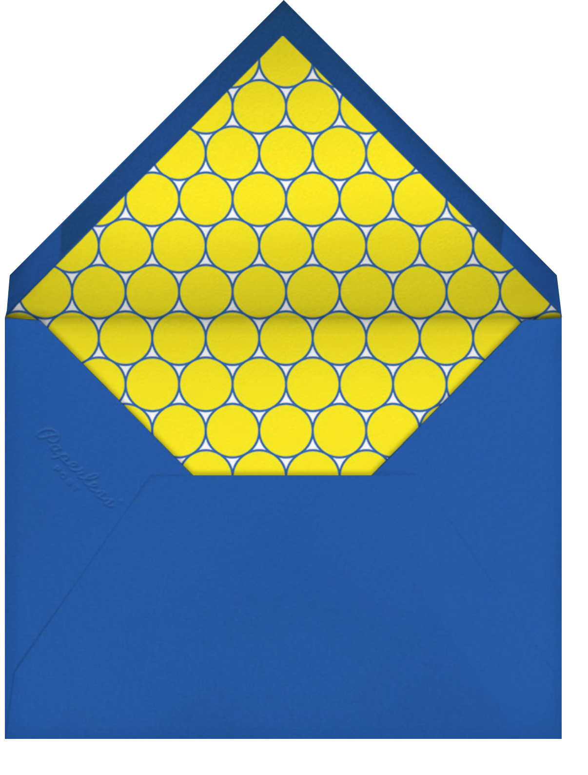 Blue and Yellow - Paperless Post - Kids' birthday - envelope back