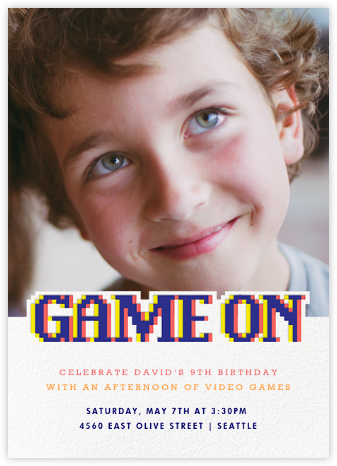 Power Up - Paperless Post - Kids' birthday invitations
