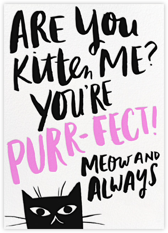 Purrfection - Hello!Lucky - Congratulations cards