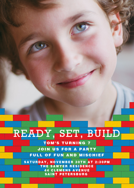 Ready, Set, Build (Photo) - Paperless Post - Kids' birthday invitations