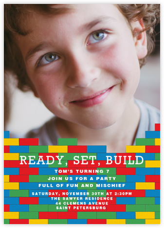 Ready, Set, Build (Photo) - Paperless Post - Online Kids' Birthday Invitations