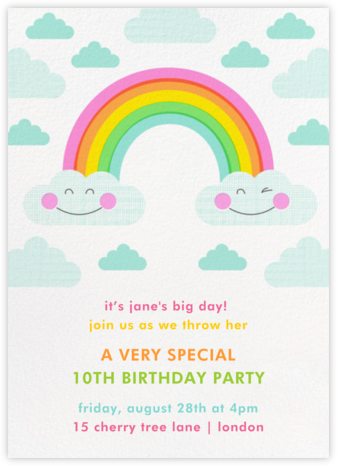 Cloud Nine - Hello!Lucky - Online Kids' Birthday Invitations