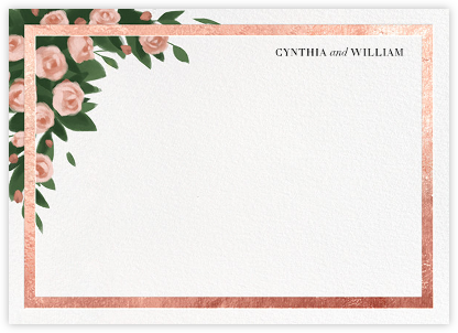 Teablossom (Stationery) - Rose Gold/Pink - Paperless Post - Personalized Stationery
