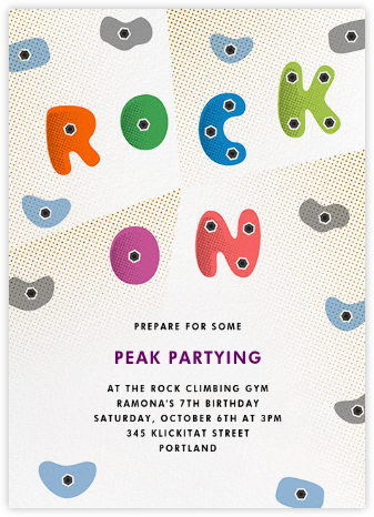 Rock Gym - Paperless Post - Kids' birthday invitations