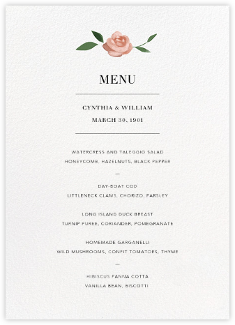 Teablossom (Menu) - Paperless Post - Wedding menus and programs - available in paper