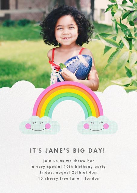 Cloud Nine (Photo) - Hello!Lucky - Kids' birthday invitations