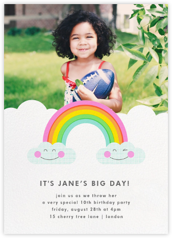 Cloud Nine (Photo) - Hello!Lucky - Online Kids' Birthday Invitations