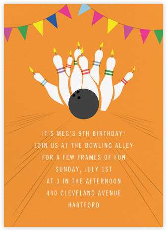 Strike - Paperless Post - Kids' birthday invitations