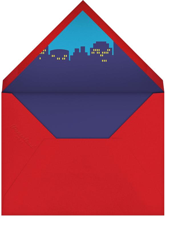 Super Skyline - Yellow - Paperless Post - Kids' birthday - envelope back