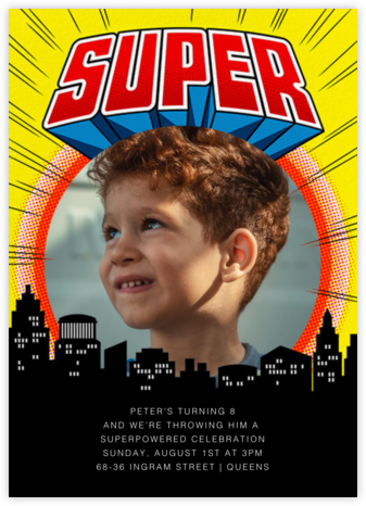 Super Skyline - Yellow - Paperless Post - Superheroes