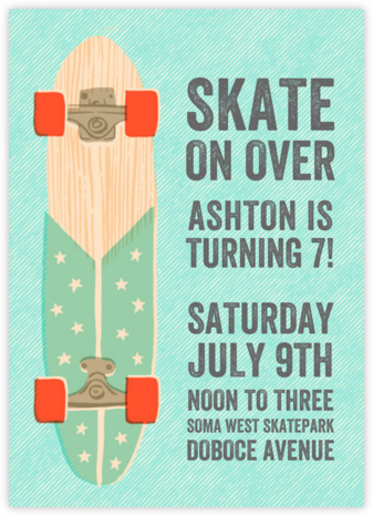 Skaters Gonna Skate - Hello!Lucky - Online Kids' Birthday Invitations