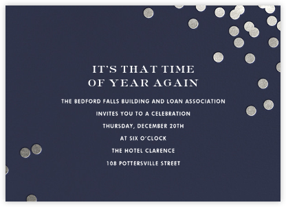 Confetti - Navy/Silver - kate spade new york - Kate Spade invitations, save the dates, and cards