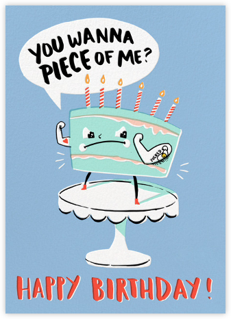 Cake Fight - Hello!Lucky - Online Greeting Cards