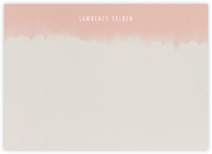 Dip Dye (Stationery) - Antique Pink - Paperless Post - Personalized Stationery