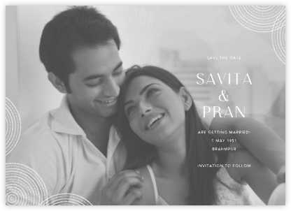 Ghera II (Photo Save the Date) - Paperless Post - Save the date cards and templates