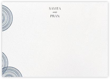 Ghera II (Stationery) - White/Dark Blue - Paperless Post -